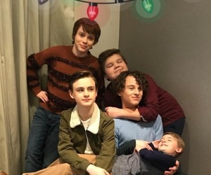 jaeden lieberher, jeremy ray taylor, and it cast image