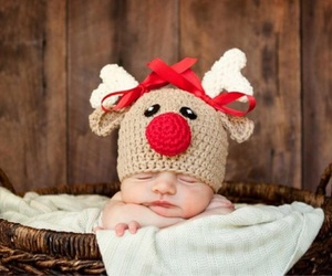 baby, christmas, and basket image