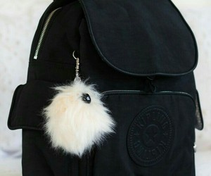 backpack, pompom, and school image