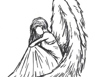 angel, drawing, and draw image