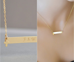 etsy, jewelry, and rose gold necklace image