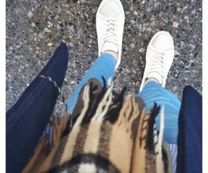 blue, coat, and hijab image