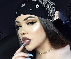bandana, highlight, and makeup image