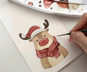 art, drawing, and holiday image