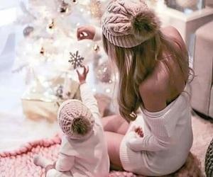 christmas, winter, and baby image