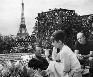 paris, audrey hepburn, and black and white image