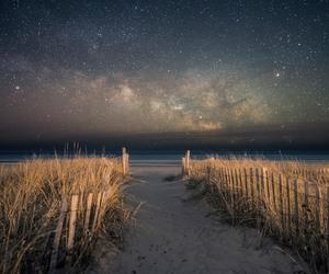 stars, beach, and nature image