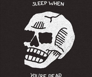 dead, skull, and sleep image