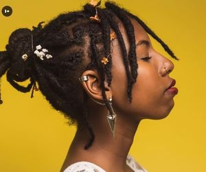 black women, dreads, and natural hair image