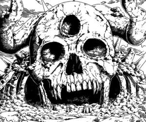 black, manga, and monochrome image