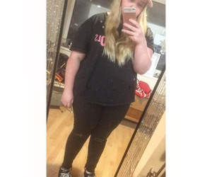 black, blonde, and chubby image
