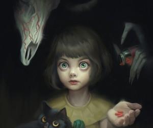 gif, fran bow, and creepy image