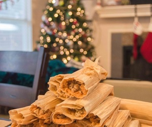 christmas, mexican, and tamales image