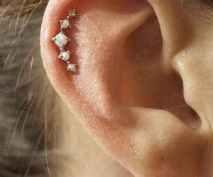 piercing, ear piercing, and opel piercing image