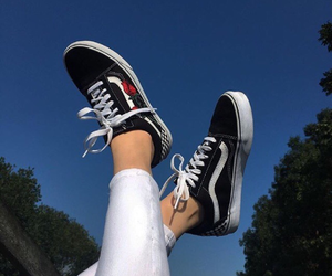 black, vans, and rose image