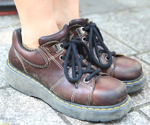 brown, dr martens, and shoes image