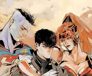 artemis, red hood and the outlaws, and bizarro image