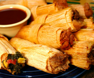christmas, dinner, and tamales image