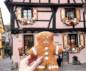 christmas, winter, and gingerbread image