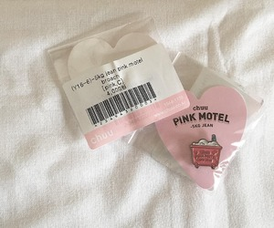 neutral, pastel, and pink motel image
