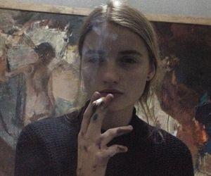 girl, smoke, and art image