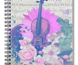 design, floral, and music image