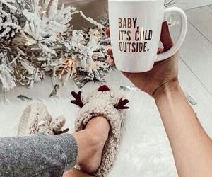 christmas, cozy, and mugs image