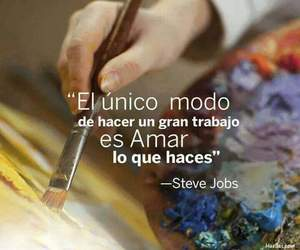Steve Jobs, quotes, and trabajo image