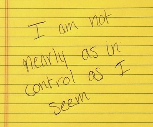 yellow, control, and quotes image