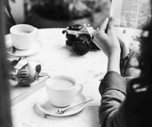 coffee, b&w, and black and white image
