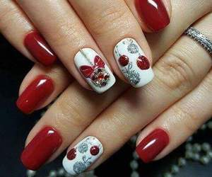 christmas, mood, and nail art image