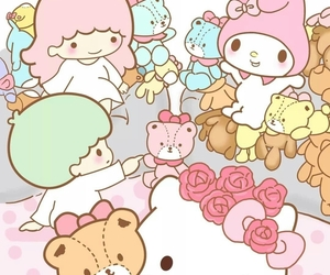 sanrio, hello kitty, and my melody image