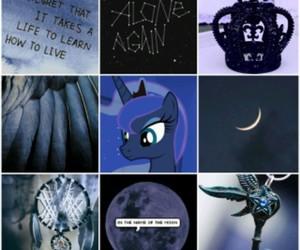 aesthetic, MLP, and princess luna image