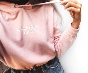autumn, outfit, and pink image