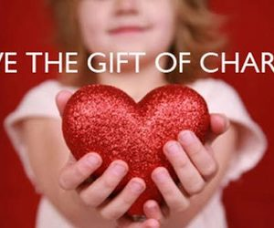charity, give, and happiness image
