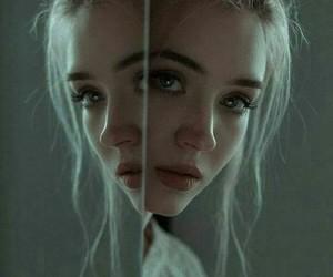 beautiful, girl, and dark image