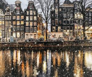 amsterdam, city, and snow image