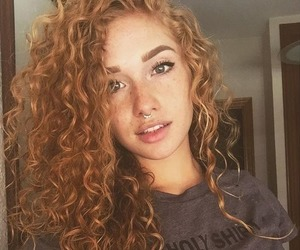 girl, hair, and curls image