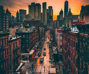 beautiful, sunset, and new york image