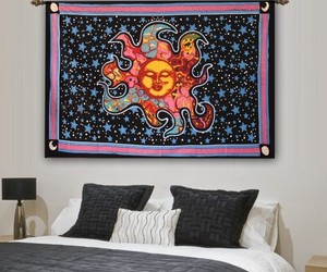 hipster, mandala tapestry, and elephant tapestry image