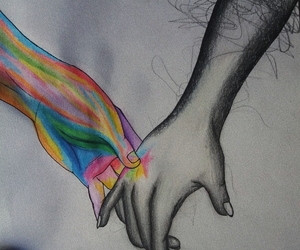 arcoiris, art, and b&w image