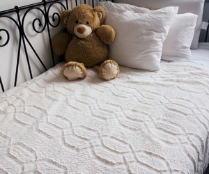 bedding, cozy, and pillows image