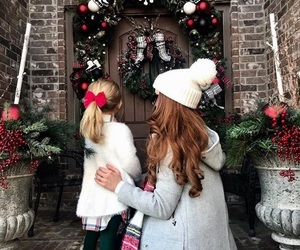 christmas, family, and winter image