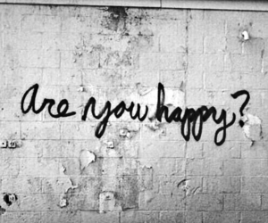happy, quotes, and black and white image