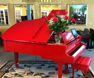 christmas, ice, and piano image