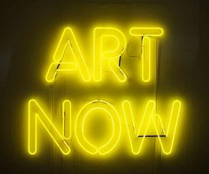 yellow, neon, and art image