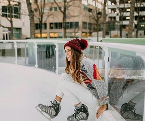 girl, holidays, and winter image