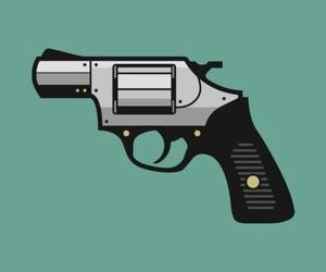 black, black and white, and guns image