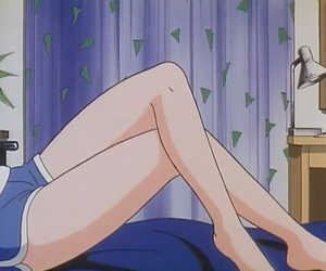anime, legs, and blue image