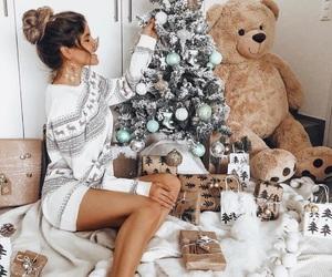 christmas, girl, and xmas image